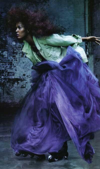 紫 ロングスカート