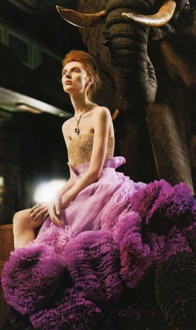 紫 大人ドレス