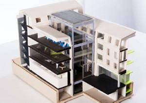 ギャラリー・ラファイエット財団美術館の模型