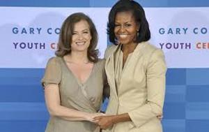 G8でミッシェル・オバマと