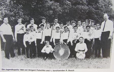 Die Jugendkapelle im Jahr 1960