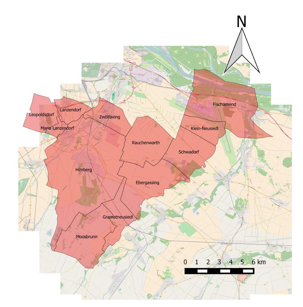 Einsatzgebiet Abschnitt Schwechat-Land
