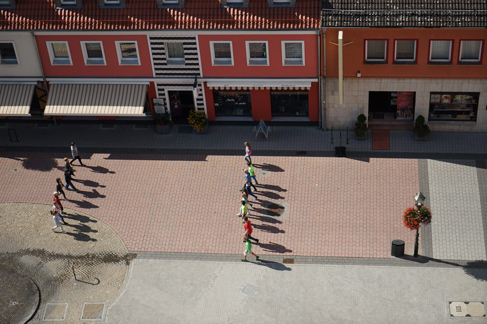 Dreh an der Evangelischen Stadtkirche St. Katharinen. Foto: Antje Materna