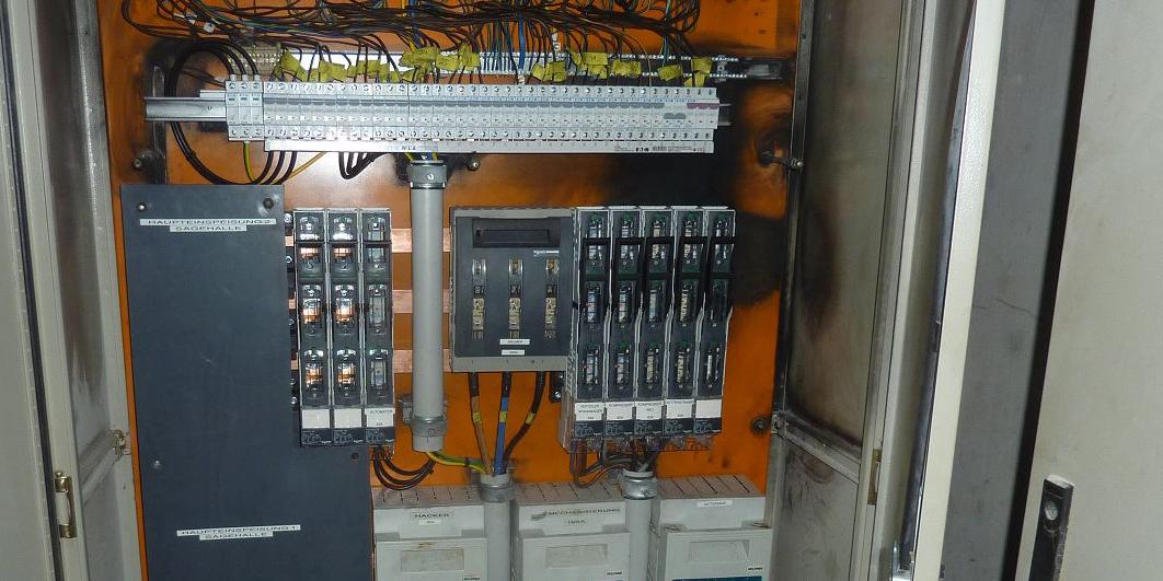 Kurzschluss bei einem 250A Stromschienensystem