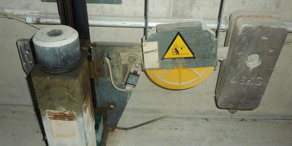 Niederschlagswassereintritt bei einer Aufzugsanlage