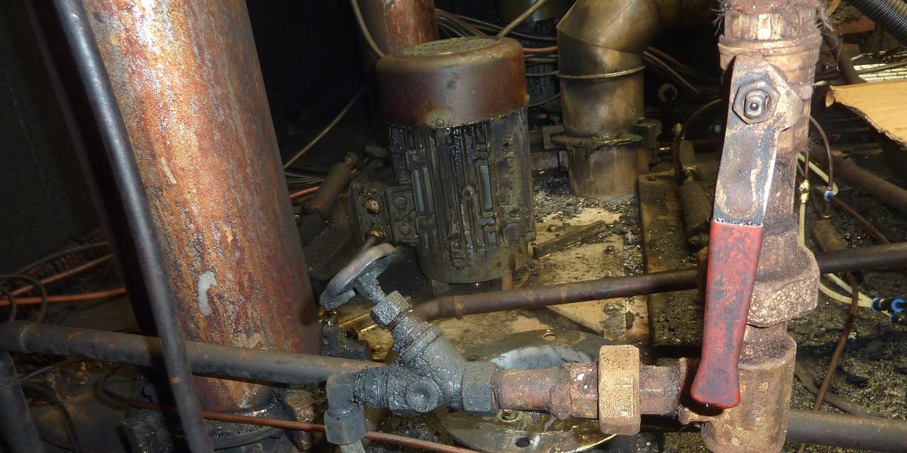 Maschinenbruchschaden bei einer Heißräucheranlage