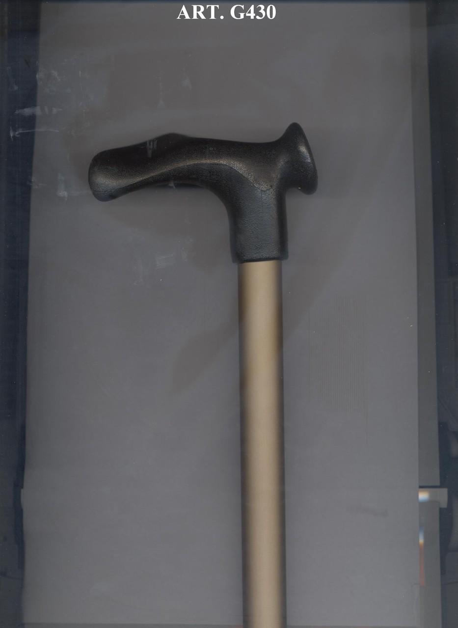 G430 Béquille télescopique alu beige poignée noire ergonomique droitier