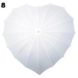 8 Coeur baleines en fibre de verre blanc