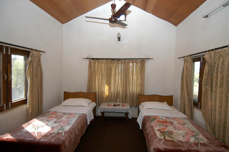 Exemple de chambre avec deux lits individuels