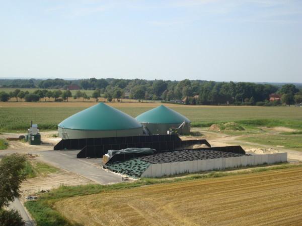 Die 190-KW-Biogasanlage.