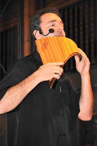 Christoph Sommer an der Panflöte