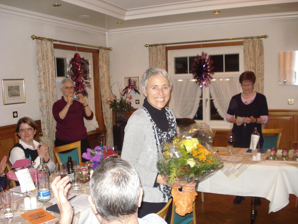 Die strahlende Jubilarin Maria Spuhler