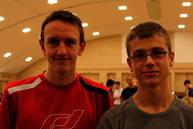 Die beiden einzigen bayerischen Spieler der U14 auf der Deutschen Meisterschaft: Uli (links) mit seinem Freund Zarko Vuckovic von den SF Augsburg (22. mit 4,5 Punkten)