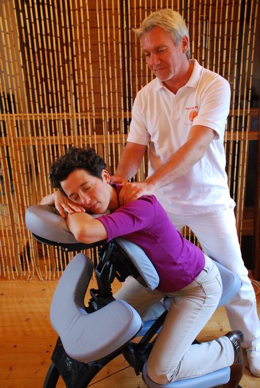 Massage aus dem Massagestuhl