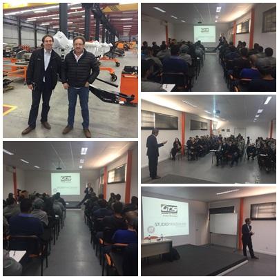 Conferenza di Roberto Panzarani alla GTS, una delle aziende più innovative del Brasile