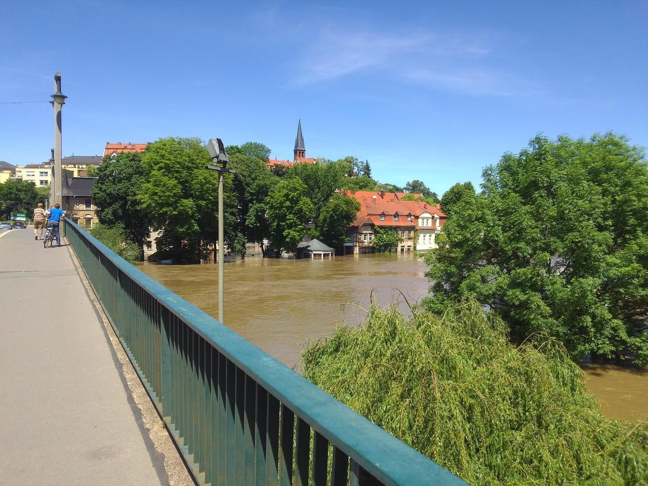 Kröllwitzer Brücke Blickrichtung Halle/Trotha
