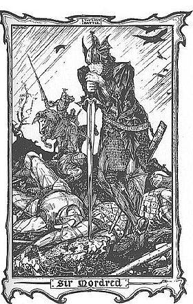 Mordred à la bataille de Camlann.