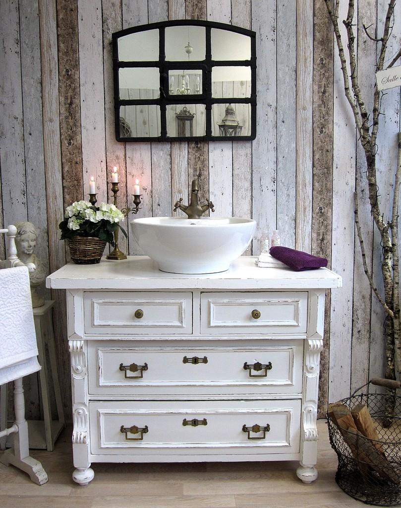 shabby chic waschkommode land liebe badm bel landhaus. Black Bedroom Furniture Sets. Home Design Ideas