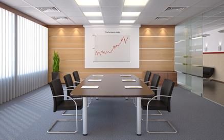 konferenzraum motor leinwand düsseldorf installation büro meeting raum freund