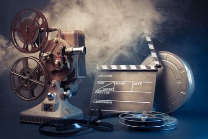 Filmprojektor mit Filmrolle