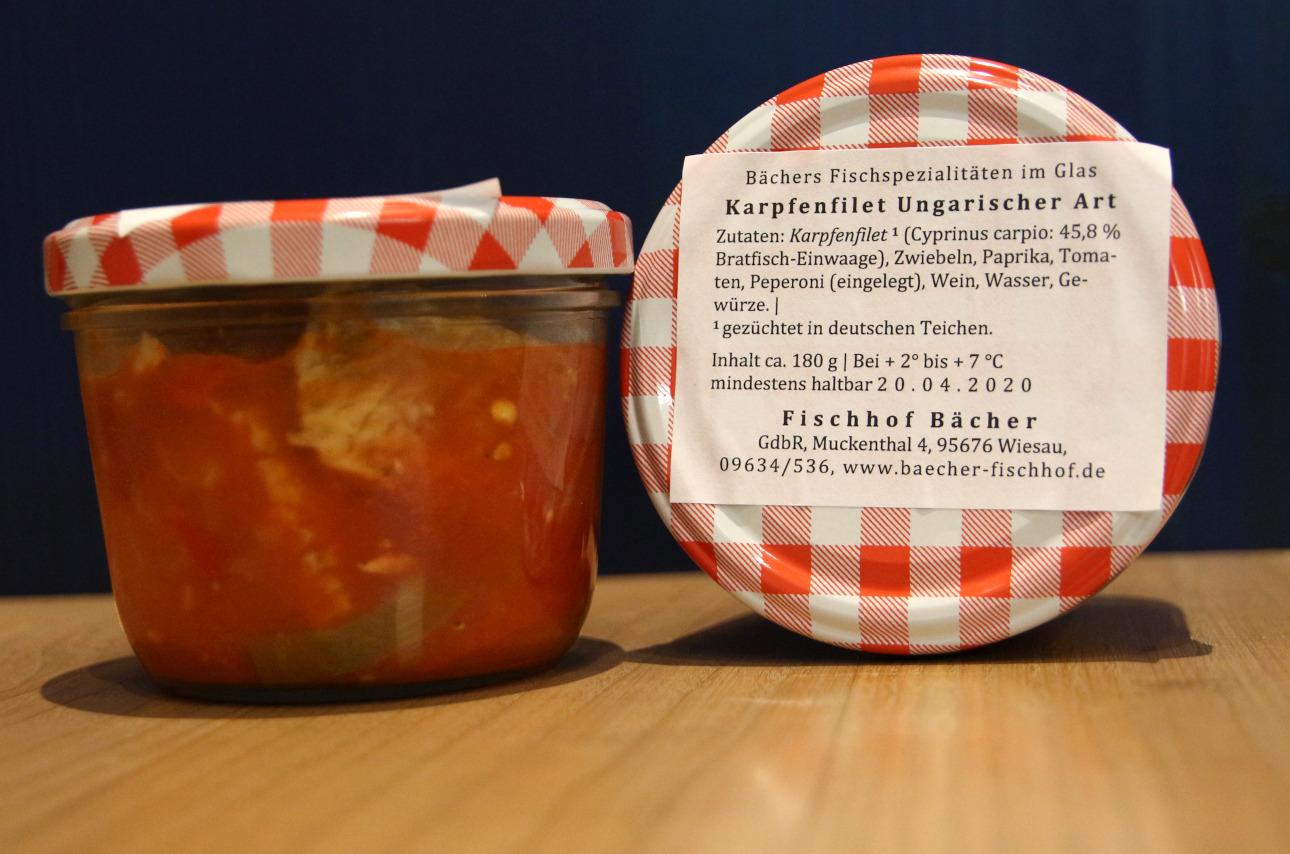 Fisch im Glas - Karpfenfilet Ungarisch