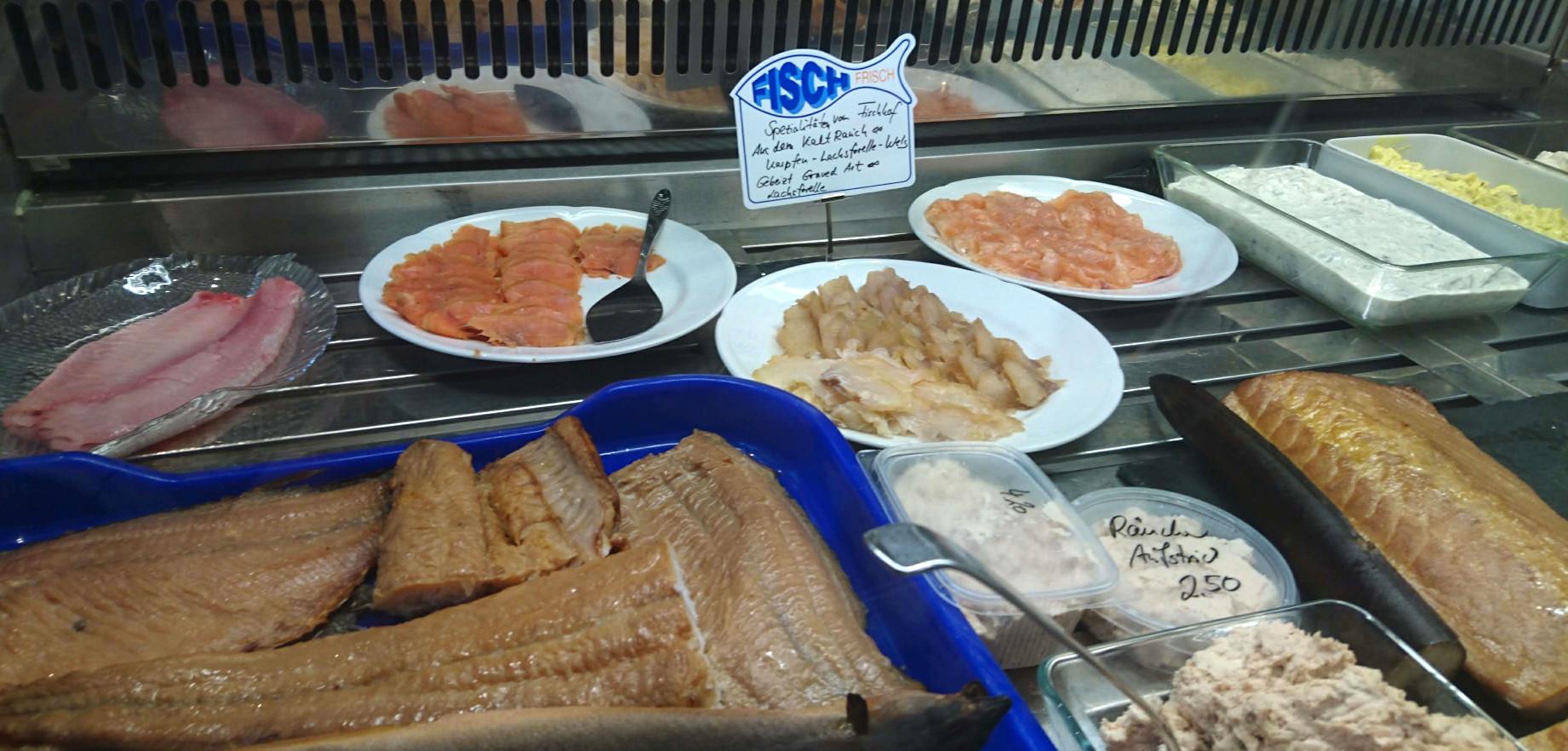 Angebot im Fischladen