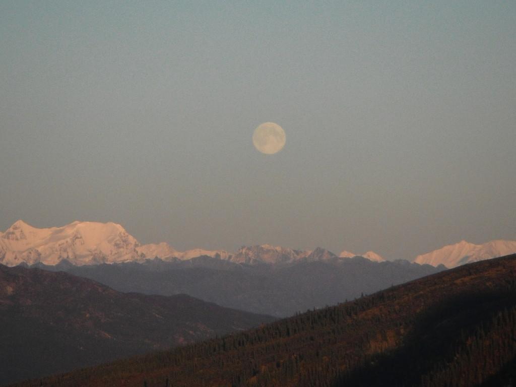 Une lune pleine de grace,