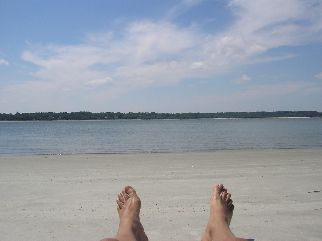 Les pieds comme en vacance!
