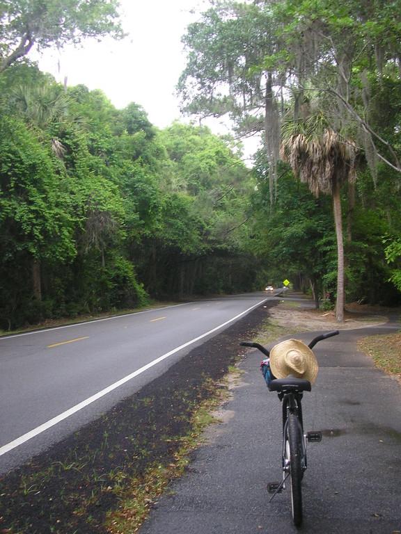 ..et moi a velo sous les gouttes tropicale!