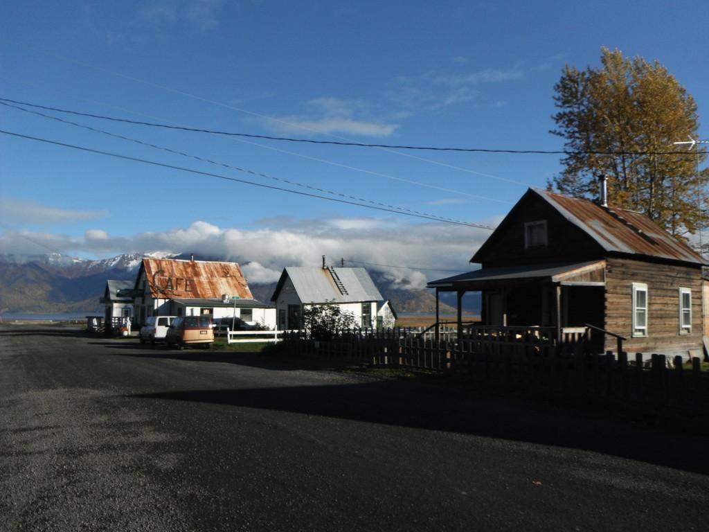 Le village: et sa panoplie de maisons de bois!