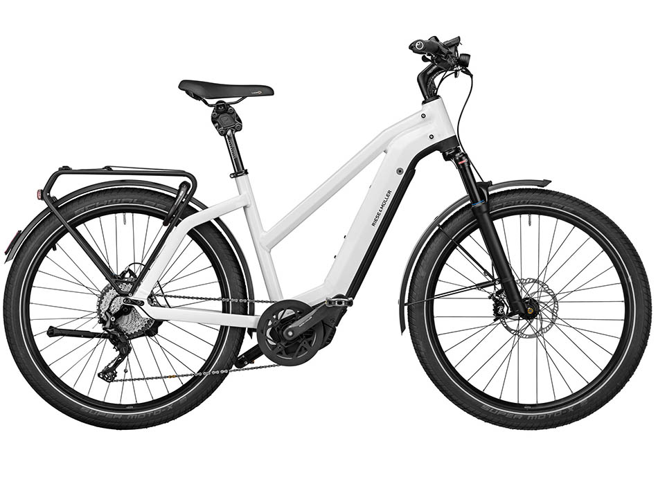 """2021 Riese & Muller Charger Mixte GT touring 27.5"""" Ceramic White"""