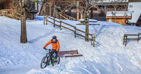 електрически велосипед зима