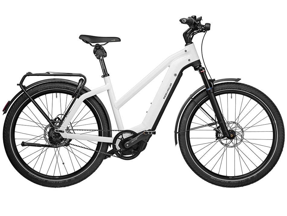 """2021 Riese & Muller Charger3 Mixte GT rohloff 27.5"""" Ceramic White"""
