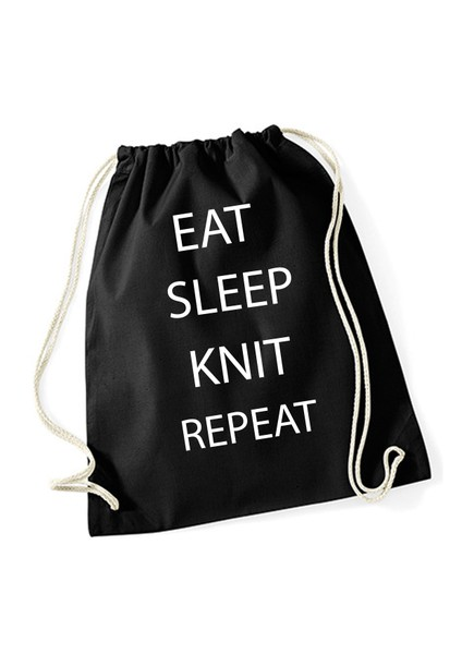 Lilientinte Projectbag EAT SLEEP KNIT REPEAT