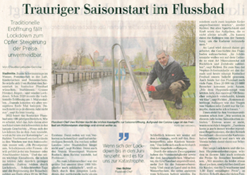 OZ-Artikel zur aktuellen Situation in Flussbad und Verein