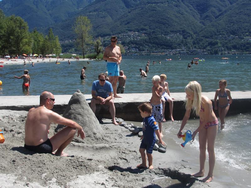 In der Badi von Ascona