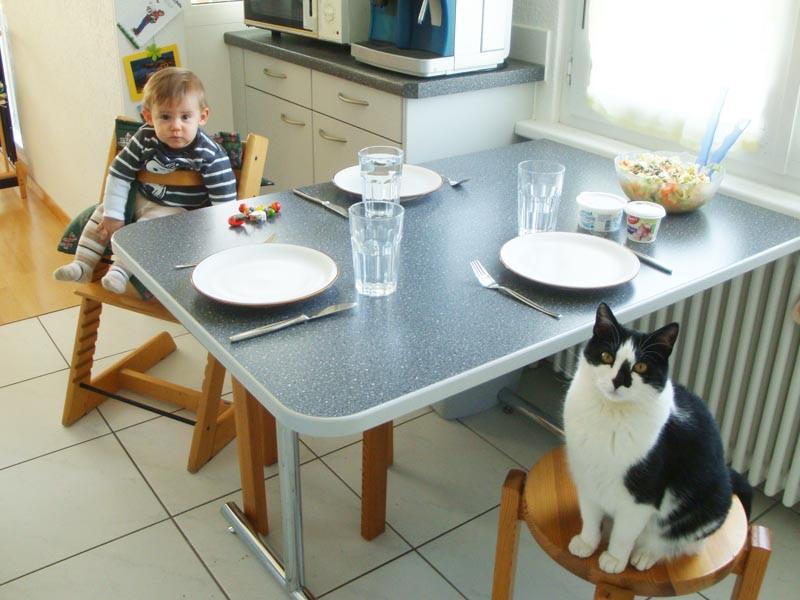 Gesellschaft beim Warten auf das Essen