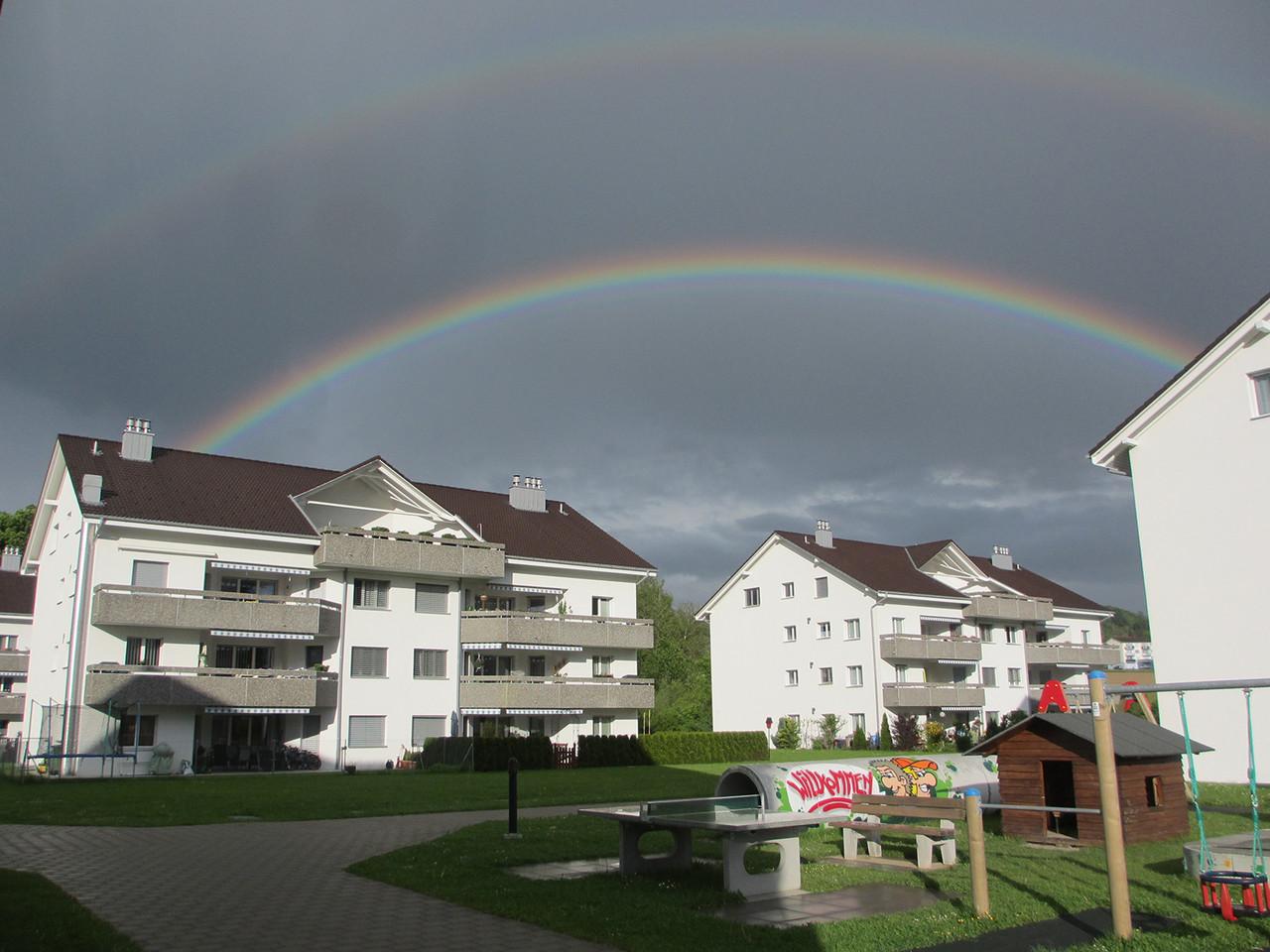 Doppelter Regenbogen über dem Tunaupark!