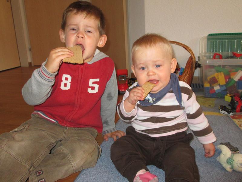 Und beim Cracker essen