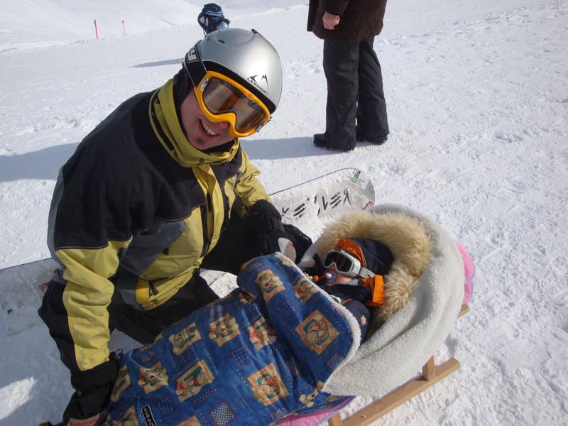 Und wir haben uns dann ab und zu getroffen im Skigebiet