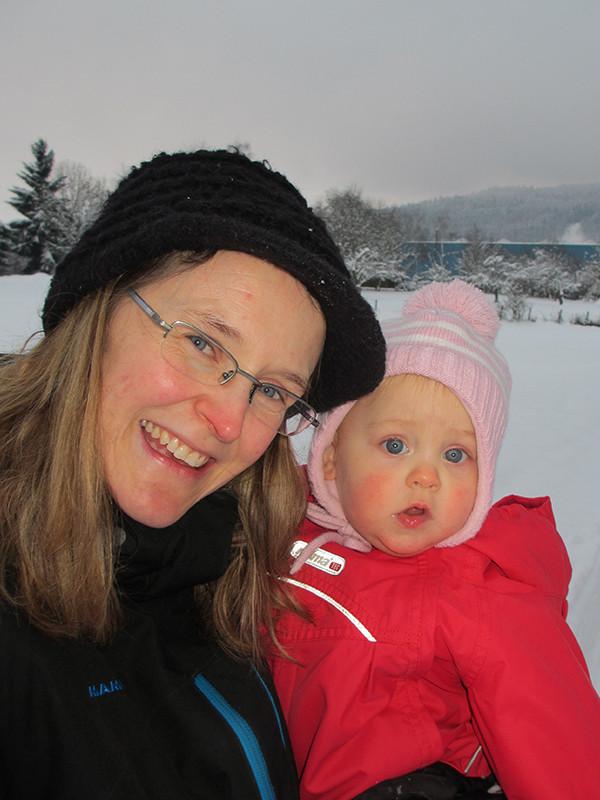 Wir lieben den Schnee - auch wenn er leider sehr kalt ist.
