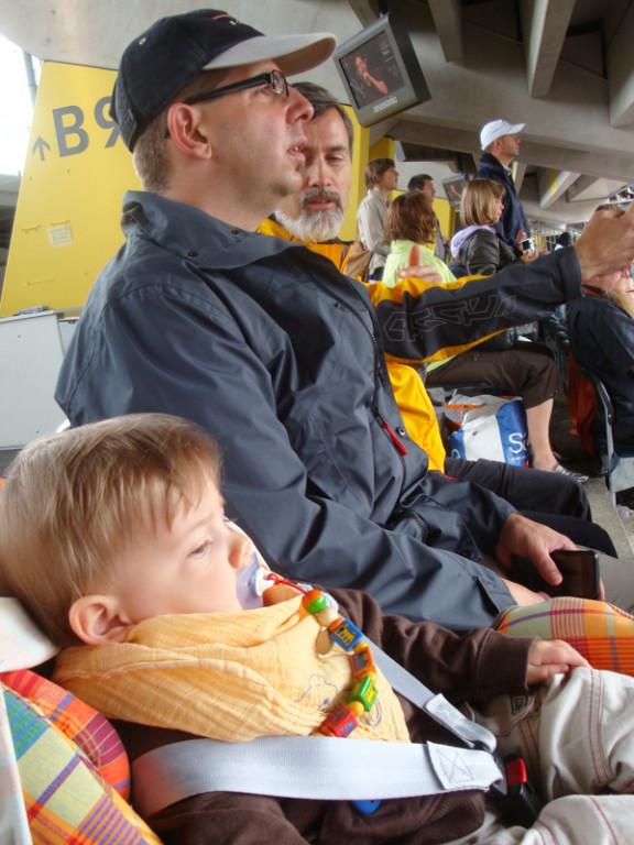 Mit Daddy im Stade de Suisse am Christustag