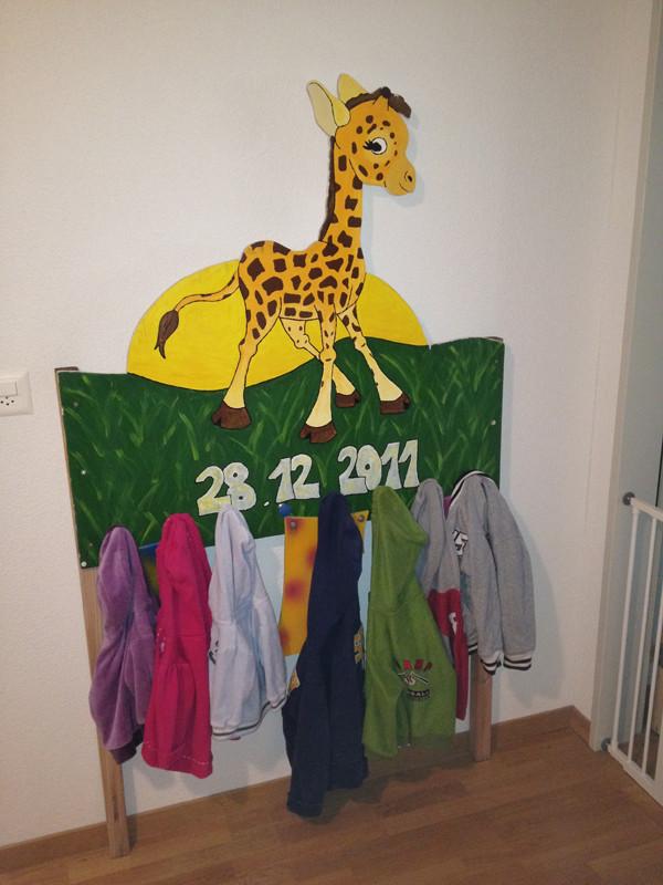 Aus meiner Geburtstafel ist eine Garderobe geworden =)