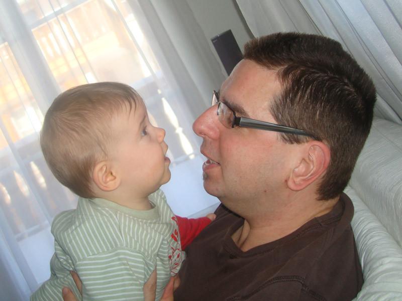 Männergespräch mit Daddy