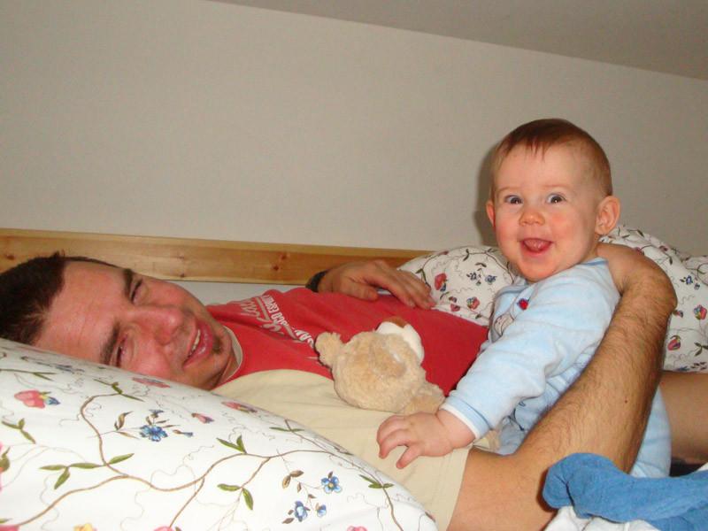 Am Morgen früh - Daddy müde, ich ganz fit