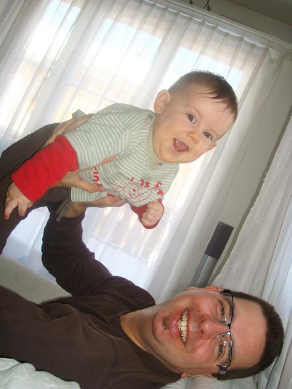 Lachen mit Daddy