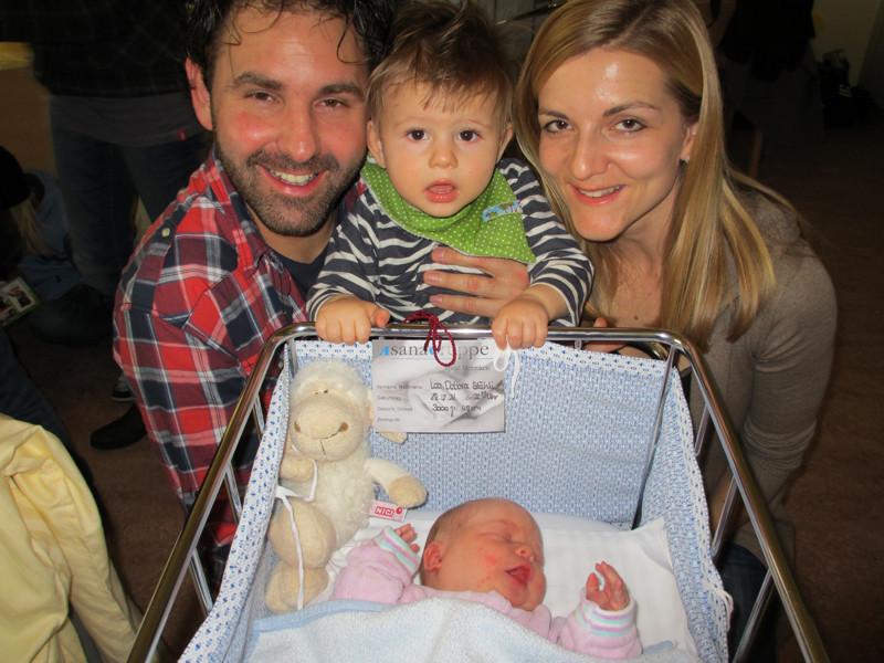 Der jüngste Cousin Micha mit Luky & Erika