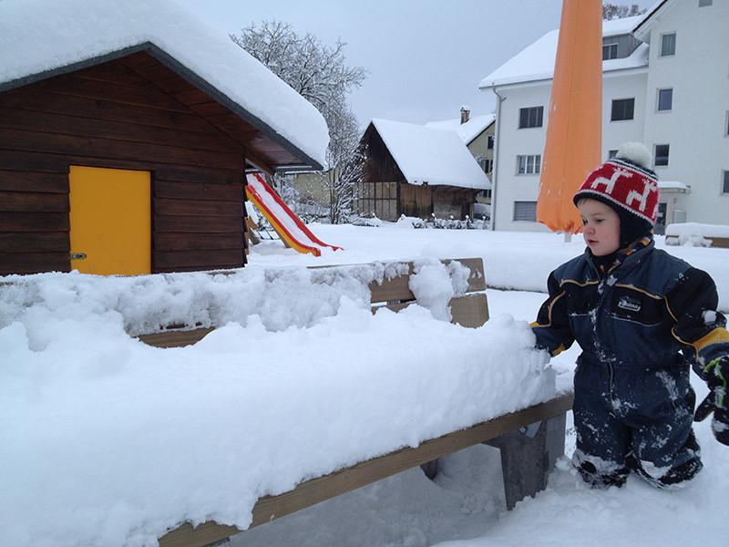 Viel Schnee Anfangs Dezember