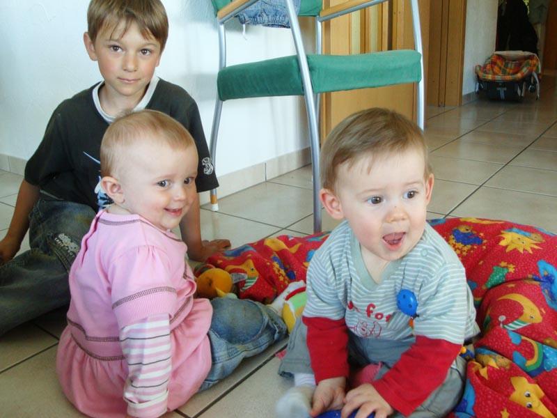 Zu Besuch bei Schimon's - hier mit Dominik und Vivienne