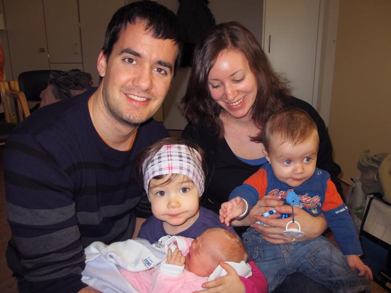 Mein Götti Andi mit Barbara und den Kids Lya und Fynn